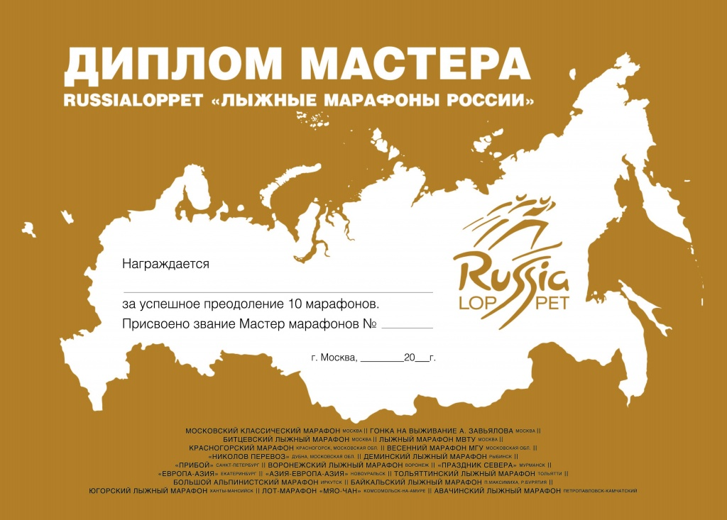 Russialoppet Diploma